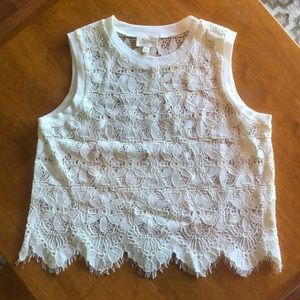 Deletta Tops - VEUC Deletta small lace tank, from Anthropologie!